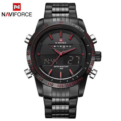 NAVIFORCE Luxury Brand Men Waterproof Full Steel Watches Men's Quartz Analog LED Clock Male Sport Wrist Watch Relogio Masculino