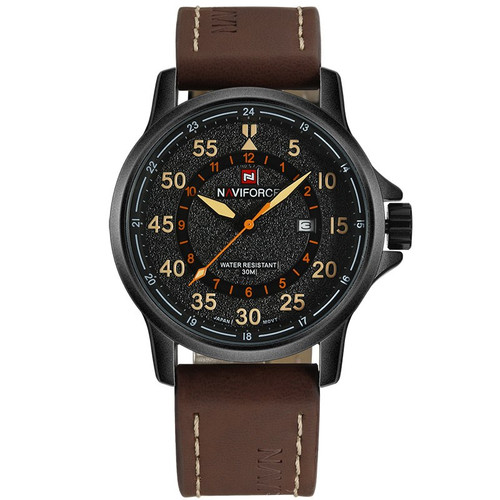 NAVIFORCE Top Luxury Brand Men Sports waterproof Watches Men's Quartz Clock Man Leather Military Wrist Watches Relogio Masculino