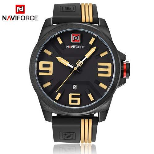 2017 NEW NAVIFORCE Brand Men Fashion Casual Sport Watches Men's 3D Face Quartz Date Clock Man Waterproof Watch Relogio Masculino