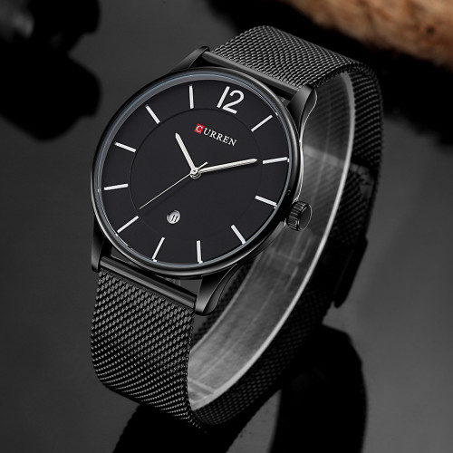 CURREN Man Watch Men Watches 2017 Luxury Brand Ultra Thin Full Steel Watches Male Clock Men Wrist Watch Man Relogios Masculino