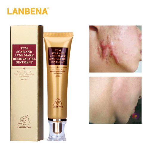 Buy 3 Get 1 Gift LANBENA Acne Scar Removal Cream Skin Repair Face Cream 3pcs+EGF Serum Treatment Blackhead Whitening Skin Care