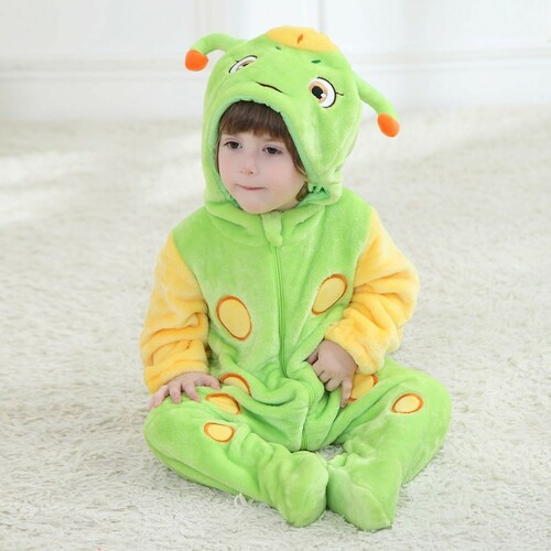 Animal Baby Romper Boy Girl Hello Kitty Cartoon Jumpsuit Pajamas Warm Autumn Winter Cute Children Flannel Zipper Clothes