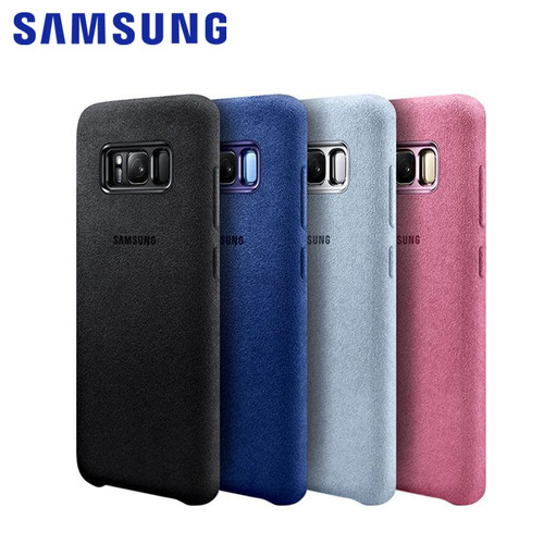 100% Original Samsung Galaxy S8 S8 Plus S8+ Case g9550 9500 Anti-Fall Leather ALCANTARA Cover 4 color