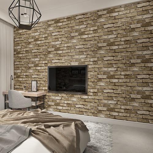 Modern Vintage Brick Textured Wallpaper For Walls Decor Embossed 3D Wall paper Rolls For Bedroom Living room Sofa TV Background