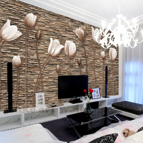 nostalgic retro 3D effect Brick Wallpaper Roll For The Wall Stone Live Room Wall Paper DE PAPEL ROLL For Bedroom TV background