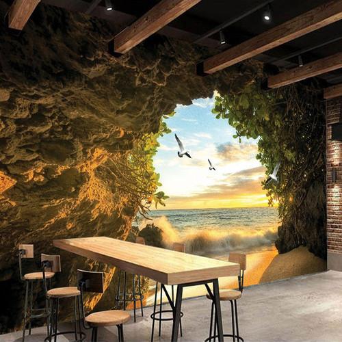 Custom 3D Photo Wallpaper Cave Nature Landscape TV Background Wall Mural Wallpaper For Living Room Bedroom Backdrop Art Decor
