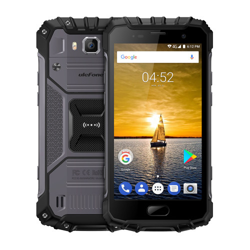 Original Ulefone Armor 2 Waterproof IP68 Cell Phone 5.0 inch 6GB RAM 64GB ROM MTK6757 Octa Core Android 7.0 16MP Cam Smartphone