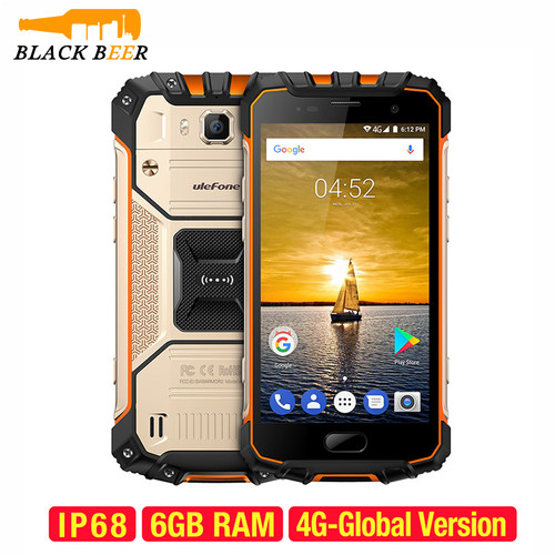 Ulefone Armor 2 Smartphone MTK Helio P25 Octa Core Android 7.0 Mobile Phone 6GB+64GB IP68 Waterproof CellPhone 4G 16.0MP NFC