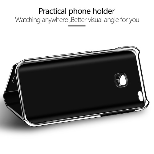 Flip Leather 360 Degree Full Case For Huawei 10 Lite Smart Mirror Cover Shell With Stand Holder Smart View Flip Phone Case Coque