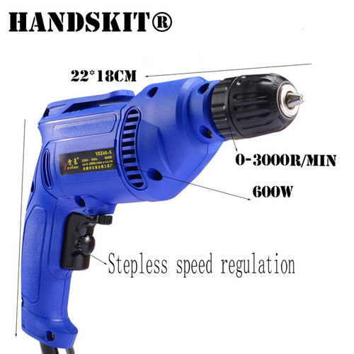 Handskit 220V Electric Drill With Drill Bits Cordless Drill Set Screwdriver Set Rechargeable Screwdriver Power Tools