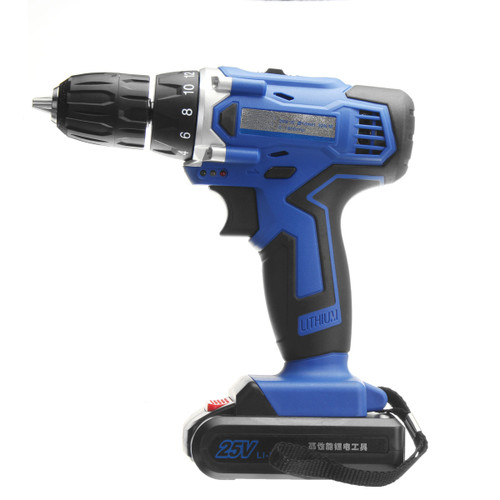 25V Lithium-Ion Battery Power Drill Driver Rechargeable Cordless Drill Electric Hammer Screwdriver Power Tools