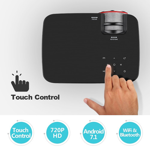 TORADOLA Android Projector, 1280x720. WIFI, Bluetooth. MINI Projector Support 1080P, USB, HDMI out. Home Theater. Q6
