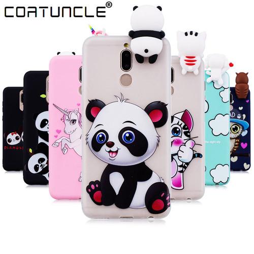 Phone Cases sFor Fundas Huawei Mate 10 Lite Case Soft TPU Candy Color Cartoon Back Cover Huawei Honor 9i Maimang 6 Nova 2i Case