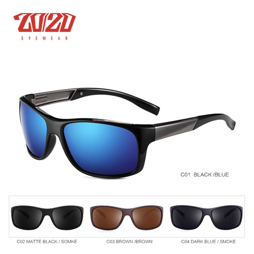 20/20 Brand Classic Polarized Sunglasses Men Driving Glasses Coating Black Fishing Driving Eyewear Male Sun Glasses PL328