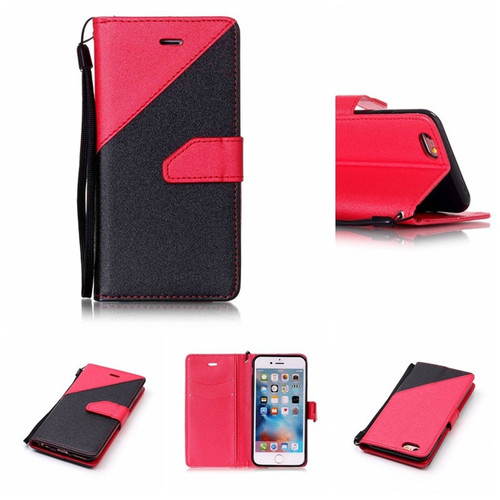 Wallet Matte Leather Mixed Color flip Phone Case For  The Meizu M6,M6T,M6S,M6 NOTE;M5,M5C;M3S M3 NOTE;MX4,S6,U20,U10