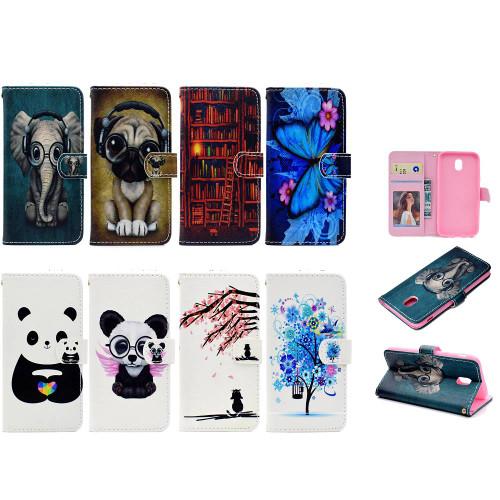 BannerLive Wallet Flip Case for Samsung Galaxy J330 J530 J730 J8 J6 J4 J2 Pro 2018 EU Version Cover Fundas Flower Puppy Pattern