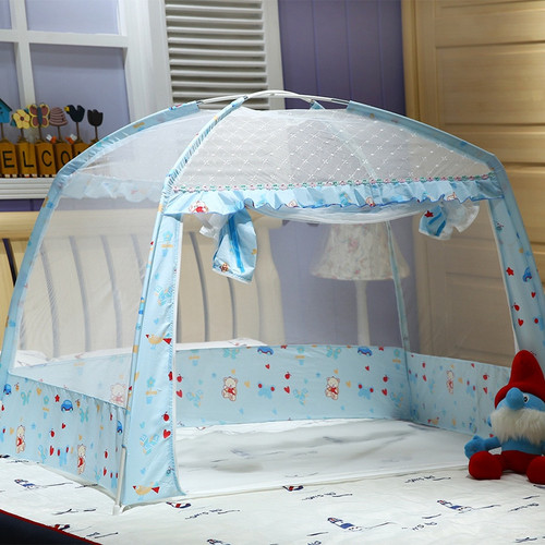 2 Colors Portable Infant Baby Crib Netting, Summer Baby Bedding Mosquito Net, Baby Cradle Bed Canopy Mosquito Mesh Tent