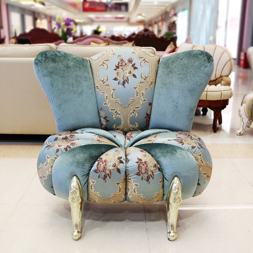 European Style cute double sofa pumpkin sofa chair single double and sofa stool set