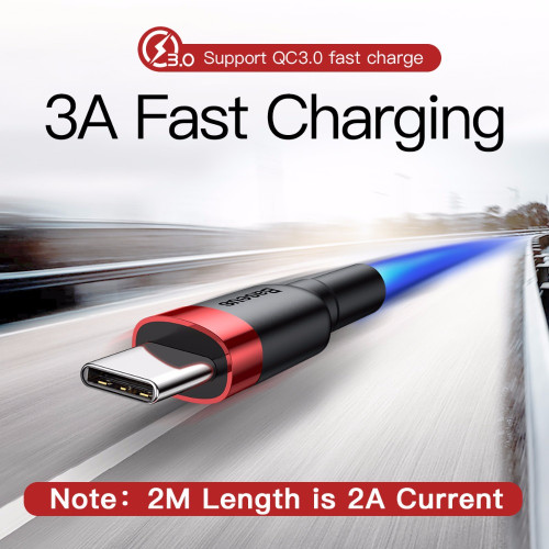 Baseus 3A Fast Charging USB Type C Cable For Samsung S9 Note 9 USB C Type-c Cable For One Plus 5 6 6t Xiaomi Mix 3 USB-C Charger