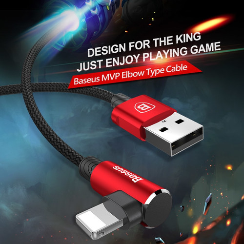 Baseus 90 Degree USB Cable For iPhone XS Max XR X 8 7 6 6s 5 5S iPad Fast Charging Charger Data Cord Adapter Mobile Phone Cable