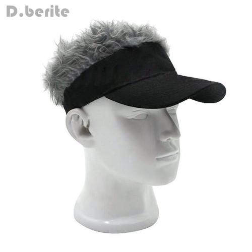 Funny Men Adjustable Wig Cap Unisex Flair Hair Visor Snapback Casquette Hat Casual Golf Caps Outdoor Hats LTT9275