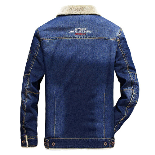 M-6XL men jacket and coats brand clothing denim jacket Fashion Men's Autumn Winter Pocket Coat winter outwear male cowboy