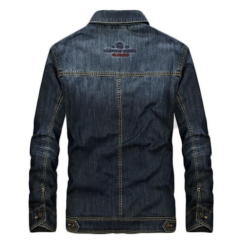 AFS JEEP 2017 New Spring Men Denim Jacket Fashion Casual Slim Jean Jacket Coat long sleeve brand clothing Plus Size M-4XL 135z