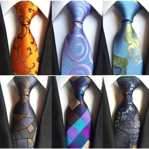JEMYGINS Classic Silk Men Tie Plaid Neck Ties 8cm Green Blue Ties for Men Formal Wear Business Suit Wedding Party Gravatas