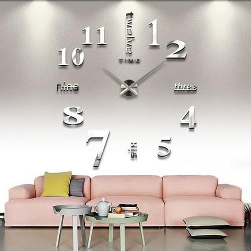 DIY Wall Sticker Clock 3D Big Mirror Clock Wall Stickers 2018 New Home Decoration Modern Design Wall Clocks Wall Sticker