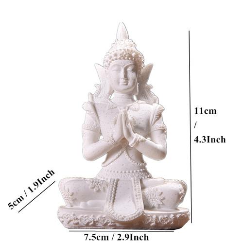VILEAD 11 Style Buddha Statue Nature Sandstone Thailand Buddha Sculpture Hindu Fengshui Figurine Meditation Miniature Home Decor