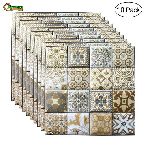 10pcs DIY Self Adhesive 3D Wall Stickers Bedroom Decor 30x30cm PVC Brick Room Decor Wallpapers Wall Decor Living Wall Stickers
