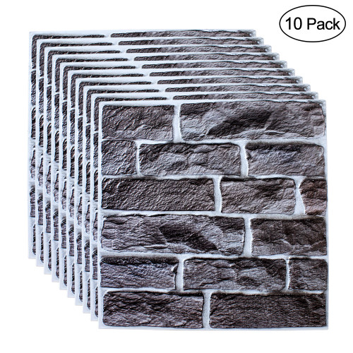 10pcs DIY Self Adhesive 3D Wall Stickers Bedroom Decor 30x30cm PVC Brick Room Decor Wallpapers Wall Decor Living Wall Stickers