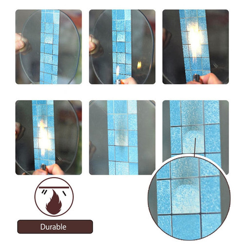 70*45cm 3D Imitation Mosaic Wallpaper Aluminum Foil Anti Oil Wall Sticker for Bathroom Kitchen Decal Art Wrap DIY Decoration S35