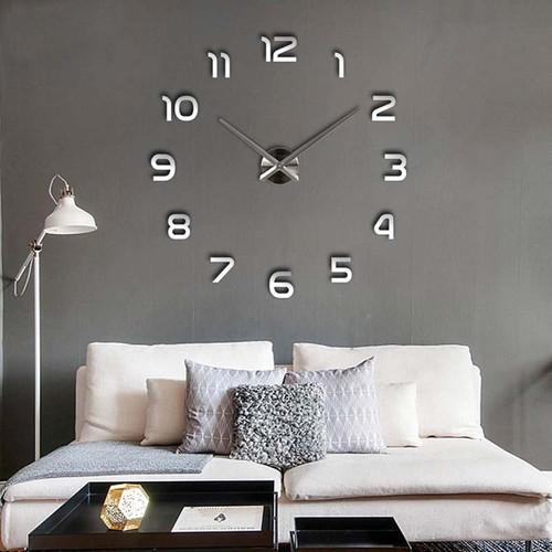 wall clock mirror sticker DIY 3D big size fashion wall clocks for home decoration wall clock for meetting room