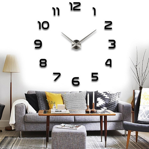 wall clock mirror sticker DIY 3D big size fashion wall clocks for home decoration wall clock for meetting room