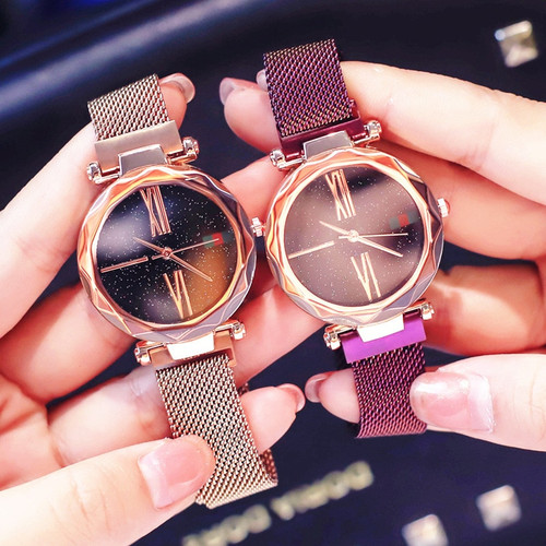 2018 Luxury Ladies Starry Sky Watch Rose Gold Women Bracelet Watches Magnetic Fashion Casual Female Waterproof dress Clock Reloj