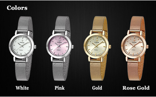 WWOOR Ladies Wrist Watches for Women Ultra Thin Quartz Watch Fashion Casual Hours Bracelet Watches reloj mujer acero inoxidable