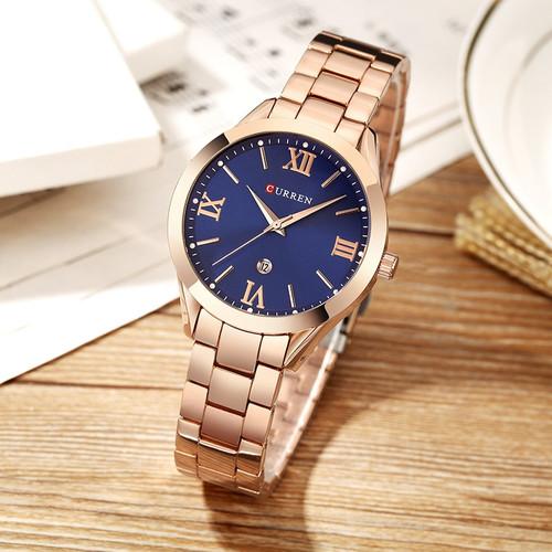 CURREN 9007 Luxury Women Watch Famous Brands Gold Fashion Design Bracelet Watches Ladies Women Wrist Watches Relogio Femininos