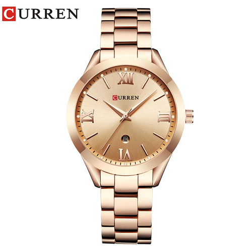 CURREN 9007 Luxury Women Watch Famous Brands Gold Fashion Design Bracelet Watches Ladies Women Wrist Watches Relogio Femininos