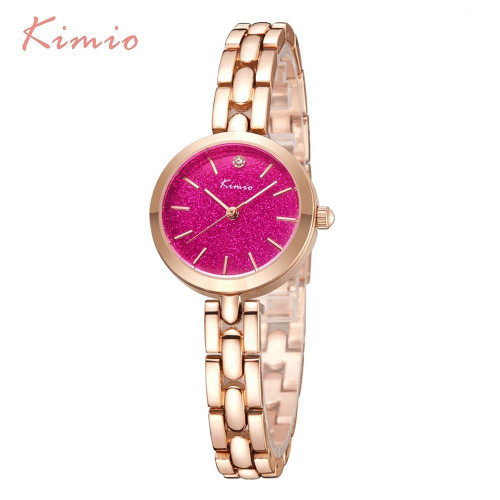 KIMIO Fashion Colorful Stars Shine Dial Women Bracelet Watch Women's Wristwatch Rose Gold Quartz Womens Watches Top Brand Clock