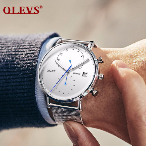 OLEVS watch men Luxury Brand Sport watch waterproof Scratch-resistant wristwatch mens Steel Men's Quartz Watch relogio masculino