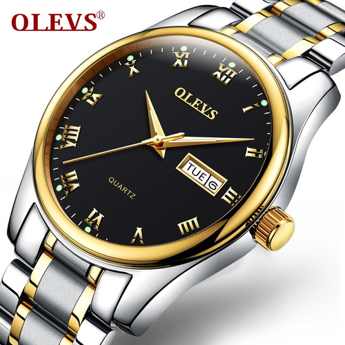2018 Luxury Brand OLEVS Men Week Display Watches Men's Quartz Date Clock Man Casual Stainless Steel Wristwatch Relogio Masculino