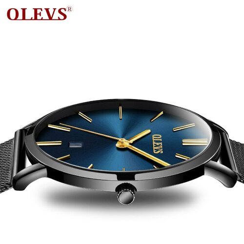 Luxury OLEVS Men's Watches watches waterproof Quartz Minimalist Ultra thin Wristwatch High Quality Mesh belt watch Relogio homem