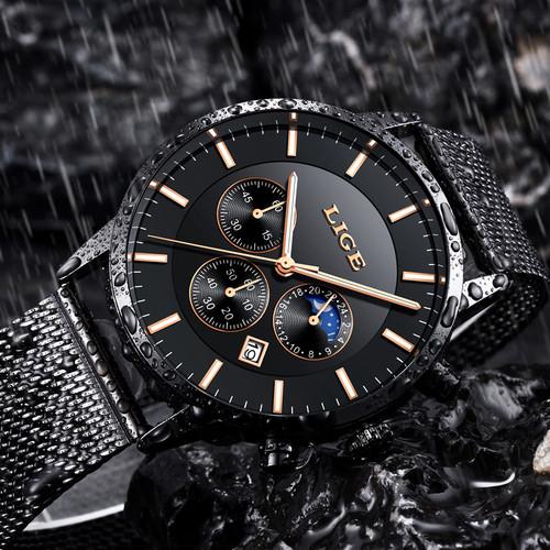 2018 LIGE Mens Watches Top Brand Luxury Men's Military Sports Watch Men Casual Waterproof Quartz Wristwatch Relogio Masculino
