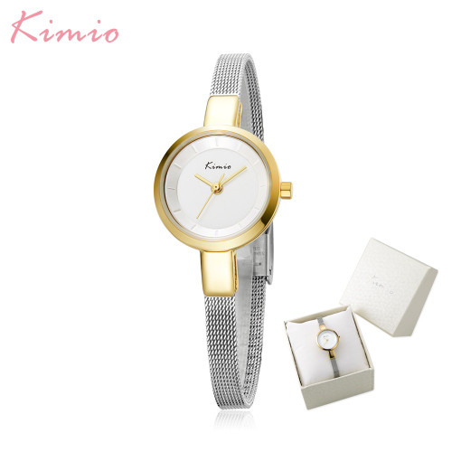 Luxury Brand Kimio Fashion Dress Women Watches Ladies Wristwatches Small Dial Quartz Clock Waterproof Stainless Steel Bracelet