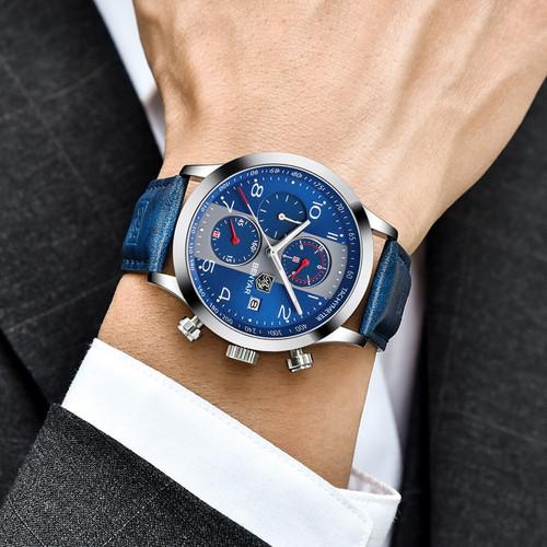 BENYAR Top Luxury Brand Men Sport Watches Quartz Chronograph Business Waterproof Watches Male Watch Clock Men Relogio Masculino