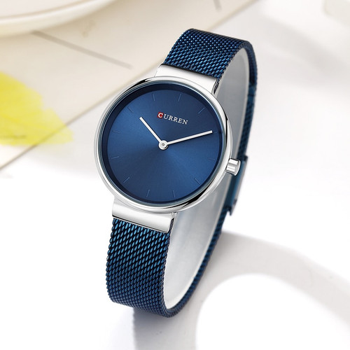 CURREN Wrist Watch Women Watches Luxury Brand Steel Ladies Blue Quartz Women Watches Sport Relogio Feminino Montre Femme 9016