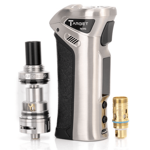 Vaporesso Target 75 VTC Full Kit eith Temprature Control Box Mod in Silver