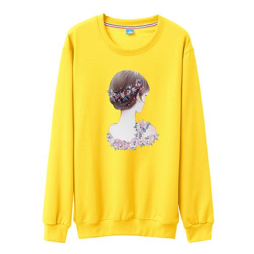 2018 Autumn Women Sweatshirts Ovesized Cotton Tracksuit Pullovers Long Sleeve O-neck Casual Cute Cartoon Printed Female Hoodies