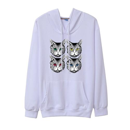 Women 2018 Autumn Pullover Cute Cat Plus Size Hooded Long Sleeve Sweatshirt Femme Hip-hop Casual Cotton Hoodies Tracksuits